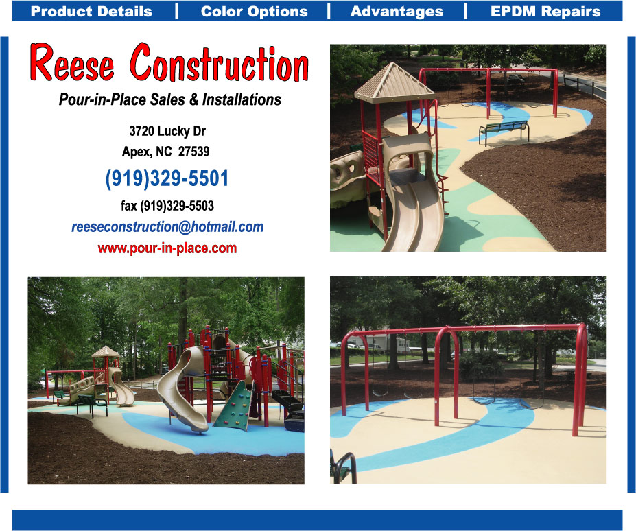 Pour In Place Bonded Rubber Playground Safety Surface